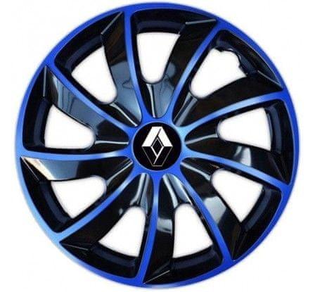 "NRM Puklice na auto Renault 16"" QUAD modré"