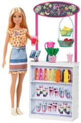 Mattel Barbie Stoisko ze smoothies z lalką
