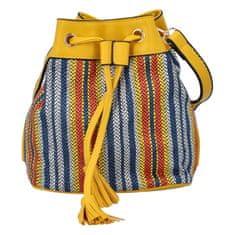 Michelle Moon Barevná dámská kabelka - vak Jimmy, žlutá
