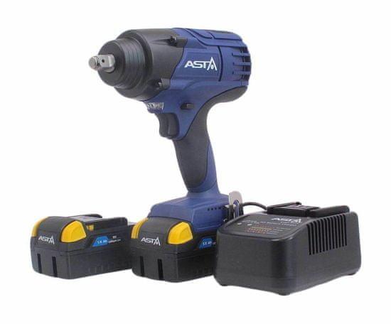 """ASTA Aku rázový uťahovák 1/2"""", extra výkonný 1250 Nm, 18V, 2x 5.0Ah Li-Ion - ASTA A-BA1250"""
