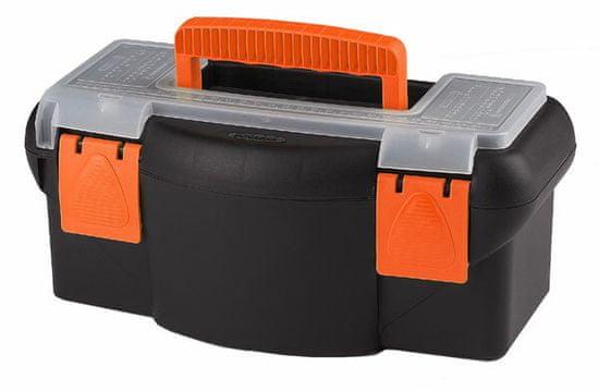 Tood Plastový kufor na náradie 360 x 190 x 150 mm, s priehradkou a zásobníkom