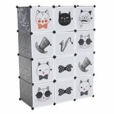 KONDELA Averon detská modulárna skrinka sivá / detský vzor