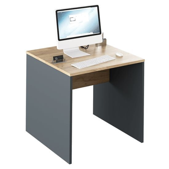 KONDELA Rioma New Typ 17 písací stôl grafit / dub artisan