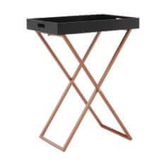 KONDELA Masino servírovací stolík čierna / meď