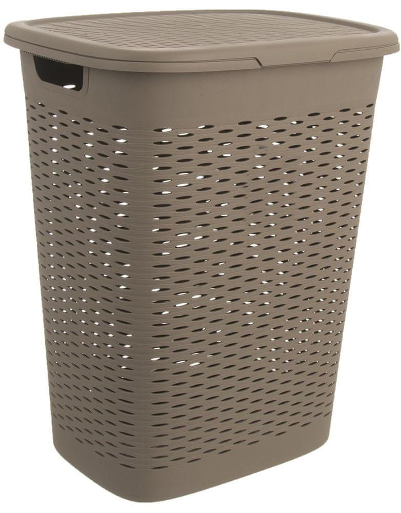 Orion Koš na prádlo s víkem UH LOOP 47 l, šedý