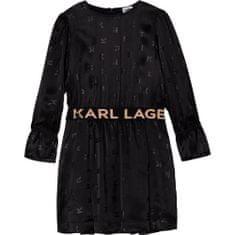 KARL LAGERFELD kids Dievčenské šaty čierne KARL LAGERFELD-Karl Lagerfeld Kids