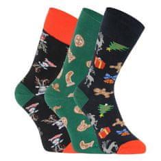 Lonka 3PACK veselé ponožky viacfarebné (Debox mix B) - veľkosť M