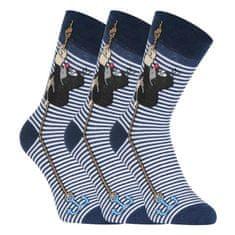 Fuski - Boma 3PACK ponožky modré (KR 111) - velikost L
