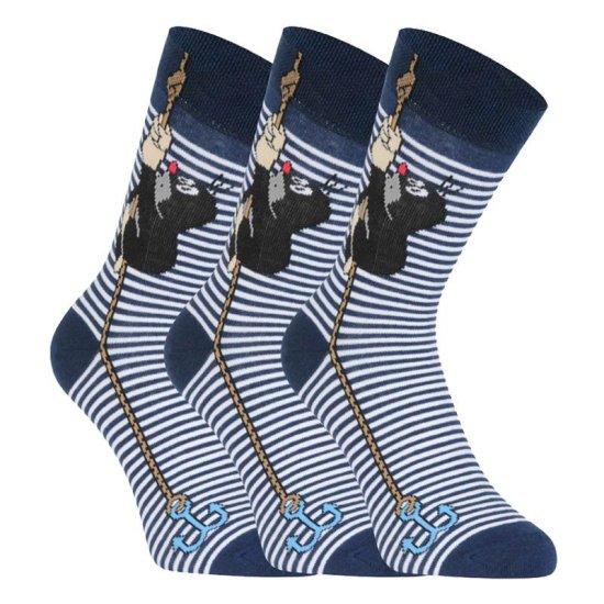 Fuski - Boma 3PACK ponožky modré (KR 111)