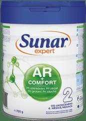 Sunar Expert AR+Comfort 2 pokračovací kojenecké mléko při ublinkávání, zácpě a kolikách 700g