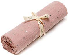 Eseco Ręcznik muślinowy różowy w gwiazdki
