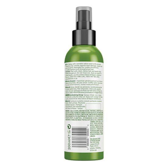 John Frieda Toplotno obremenjen pršilo za lase Detox & Repair ( Care & Protect Spray) 200 ml