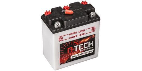 A-tech baterie 6V, 6N6-3B, 6Ah 50A, konvenční 99x57x111 A-TECH (vč. balení elektrolytu)