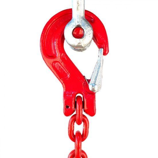 SVX Reťazový záves hák-hák tr 80 (4 m, 1120 kg, 6 mm) 4m 1120kg 6mm cervena