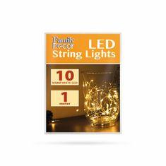 Family Christmas Micro LED lučke na baterije 10 LED toplo bele