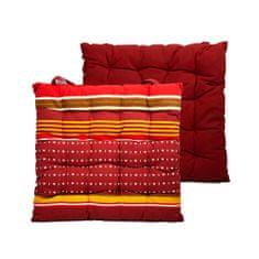 Home Elements Podsedák prošívaný 40*40 cm, Červený