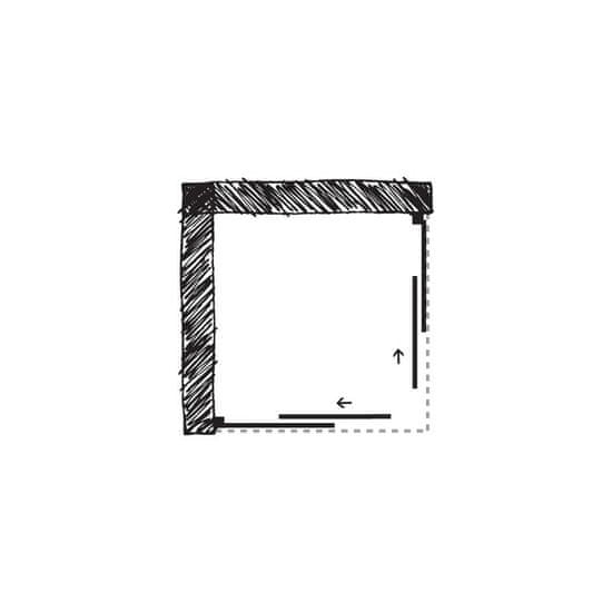 Forte Obdélníkový a čtvercový sprchový kout ROMA