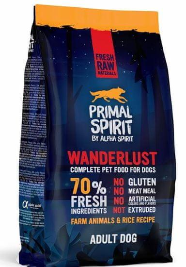 Primal Spirit Dog 70% Wanderlust 1 kg