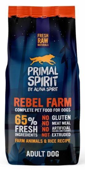 Primal Spirit Dog 65% Rebel Farm, 12 kg