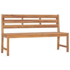 Zahradní lavice 150 cm masivní teakové dřevo