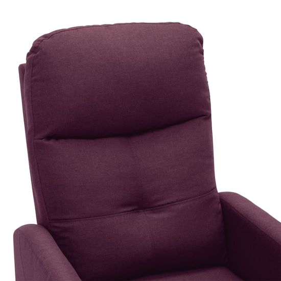 shumee lila szövet dönthető elektromos fotel