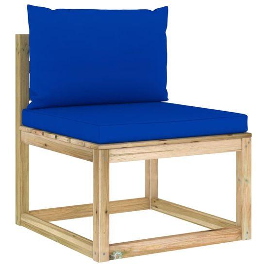 shumee 12 ks. drevená záhradná sedacia súprava s vankúšmi