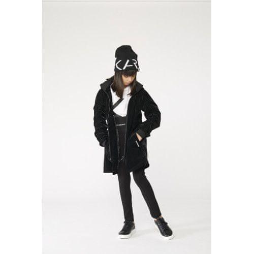 KARL LAGERFELD kids Dievčenský plášť čierny KARL LAGERFELD-Karl Lagerfeld Kids