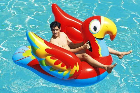 Bestway jastučić na napuhavanje papagaj Peppy s ručkom, 203x132 cm