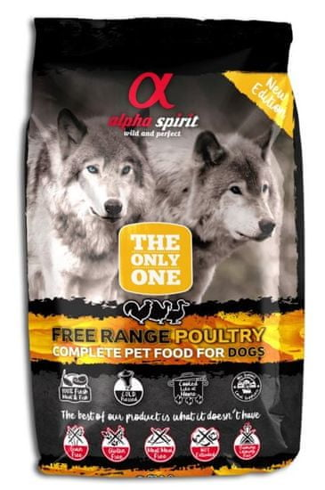 Alpha Spirit The Only One Complete Dog Food Poultry 3 kg