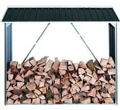 Duramax Přístřešek na dřevo, kovový, antracit