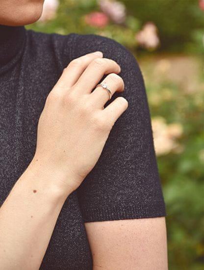 Brilio Zásnubný prsteň z bieleho zlata so zirkónom 226 001 01079 07 biele zlato 585/1000