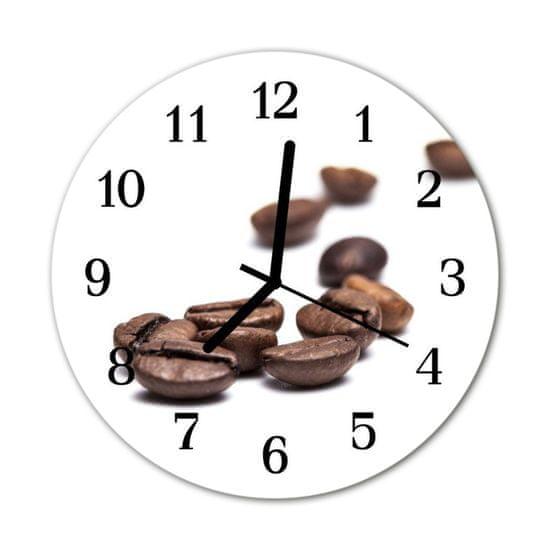 tulup.sk Nástenné sklenené hodiny Zrnková káva