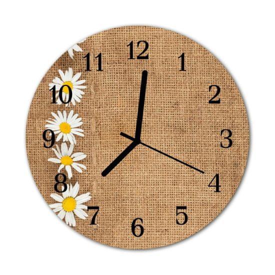 tulup.sk Nástenné sklenené hodiny Sedmokráska