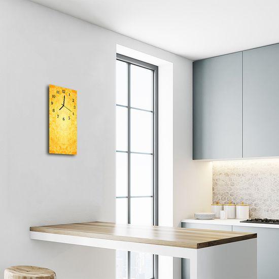 tulup.si Steklena navpična ura Art abstrakcija rumena 30x60