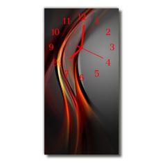 tulup.hu Négyszögletes fali üvegóra Art absztrakció szín