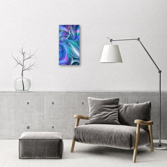 tulup.sk Sklenené hodiny vertikálne Umenie abstrakcie modrá