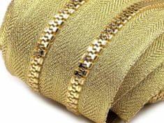 Kraftika 1m zlatá zip kostěný 5mm metráž zlato a stříbro