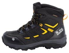 Jack Wolfskin dětská kotníčková nepromokavá outdoorová obuv Vojo Texapore Mid 4042181 32 černá