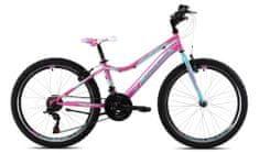 Capriolo Diavolo DX 400 otroško kolo, 24'/18HT, roza-turkizno
