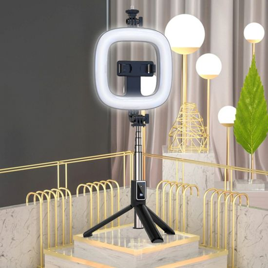 Selfie postolje za stalak za selfie sa svjetlom, crno