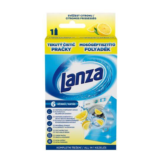 Lanza Tekutý čistič práčky - sviežosť citróna 250 ml