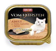 Animonda V.Feinsten CORE piletina, file lososa + špinat za mačke, 32x100 g