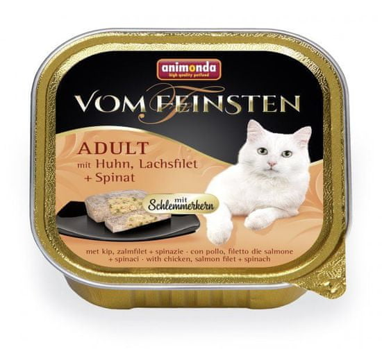 Animonda V.Feinsten CORE kuracie, losos filet + špenát pre mačky 32x100 g