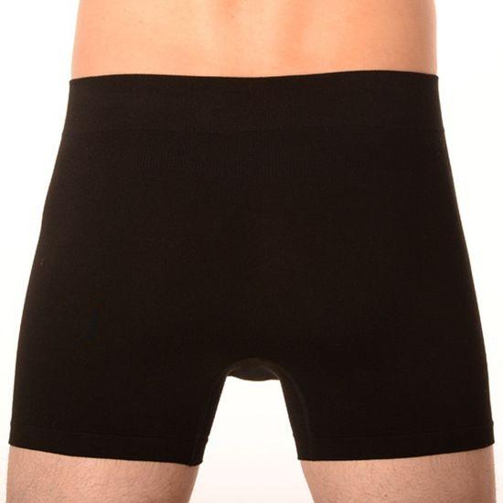 Gino Pánské boxerky bezešvé bambusové černé (54004)