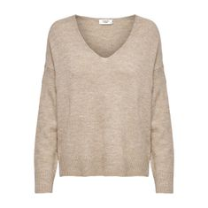 Jacqueline de Yong Ženski pulover JDYELANORA 15207823 Ovseni kosmiči (Velikost S)