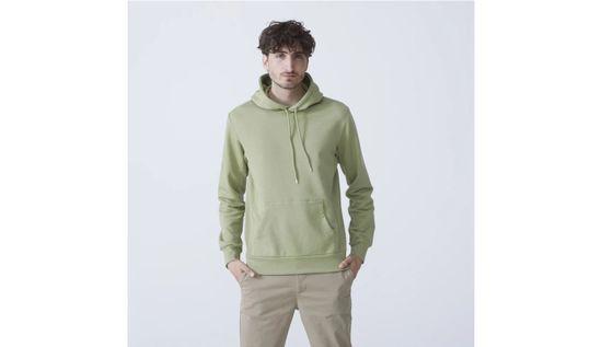 By Garment Makers Mikina The Organic Hood Sweatshirt Jones farba zelená   veľkosť M