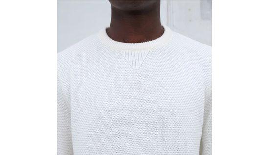 By Garment Makers Mikina The Organic Waffle Knit farba biela | veľkosť L