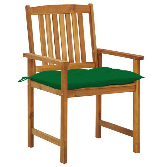 shumee Záhradné stoličky s podložkami 8 ks akáciový masív