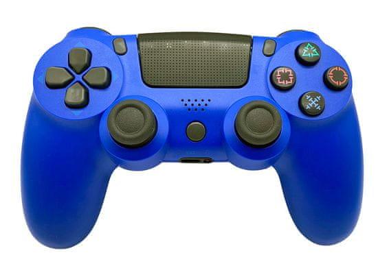T-GAME DS6 modrý bezdrôtový herný ovládač pre PS4 a PC