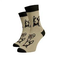 BENAMI Veselé ponožky I Love Dog Hnědá Bavlna 45-46